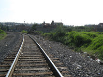 Die Bahngleise Lizenzfreies Stockfoto
