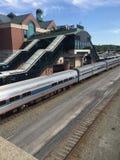 Die Bahnstation Lizenzfreies Stockfoto