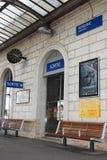 Die Bahnstation in der Landschaft von Frankreich Lizenzfreie Stockfotografie