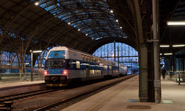 Die Bahnstation in Prag Lizenzfreie Stockfotografie