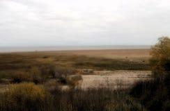 Die Bank von Ilmen See Küstenstreifen stockfotografie