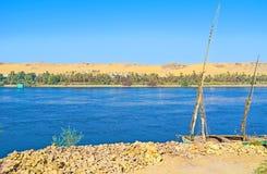 Die Banken von Nil Stockbild