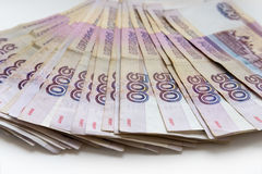 Die Banknoten 500 Rubel Stockfoto