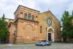 Die Basilika di San Domenico, mit dem Grab von Rolandino de Passeggeri Stockfotos