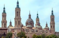 Die Basilika-Kathedrale unserer Dame der Säule Stockbild
