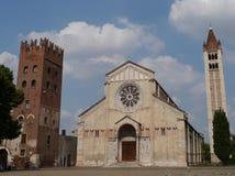 Die Basilika Sans Zeno in Verona in Italien Lizenzfreies Stockbild