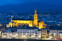 Die Basilika Santa Croce in Florenz, Italien Lizenzfreie Stockfotografie