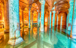 Die Basilika-Zisterne - Untertagewasserreservoir Stockfoto