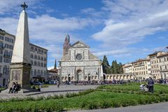 Die Basilikadi Santa Croce in Florenz, Italien lizenzfreie stockfotografie