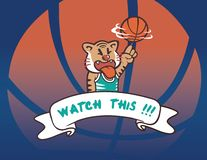 Die Basketballtiger-Spielerbewegung lizenzfreies stockfoto