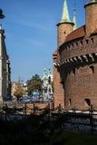Die Bastion von Krakau ist ein Teil der Verstärkungen von Krakau, die jetzt in der Stadt bleiben Lizenzfreies Stockbild