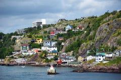 Die Batterienachbarschaft in St. John's, Neufundland, Kanada lizenzfreies stockbild