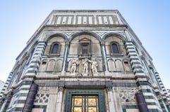 Die Battistero-Di San Giovanni in Florenz, Italien lizenzfreies stockbild