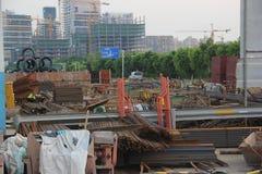 Die Baustelle in SHEKOU NANSHAN SHENZHEN Lizenzfreie Stockfotos