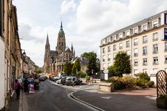 Die Bayeux-Kathedrale stockbilder
