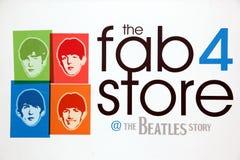 Die Beatles-Geschichte, geöffnet 199 ab Mai Stockfotografie