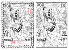 Die bedeutende Arcanatarockkarte Der Dummkopf Lizenzfreie Stockfotos