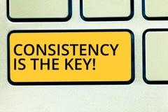 Die Begriffshandschrift, die Übereinstimmung zeigt, ist der Schlüssel Geschäftsfoto-Text volle Widmung zu einer Aufgabe eine Gewo stockfotografie