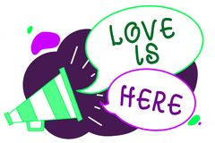 Die Begriffshandschrift, die Liebe zeigt, ist hier Gefühl des Gefühls des Geschäftsfototextes romantisches reizendes positive Aus vektor abbildung