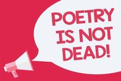 Die Begriffshandschrift, die Poesie zeigt, ist nicht tot Das Geschäftsfoto, das ästhetisches und rhythmisches Schreiben zur Schau lizenzfreie abbildung