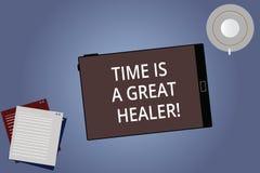 Die Begriffshandschrift, die Zeit zeigt, ist ein großer Heiler Das Geschäftsfoto, das die emotionalen Schmerz zur Schau stellt, w lizenzfreie abbildung