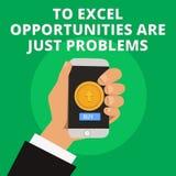 Die Begriffshandschrift, die zu Excel-Gelegenheiten darstellt, sind gerade Probleme Geschäftsfoto-Text Kuschelecke befürchten stock abbildung