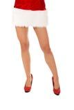 Die Beine der sexy Frau in den hohen Absätzen Lizenzfreies Stockbild
