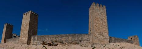 Die Belagerung von Artajona, XIII Jahrhundert geummauert Lizenzfreies Stockfoto