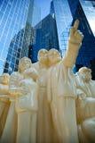 Die belichtete Menge in Montreal Lizenzfreie Stockfotografie