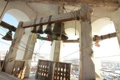 Die Bell von Tikhvin-Tempel Kungur-Stadt, Dauerwelleregion, Russland stockfotos