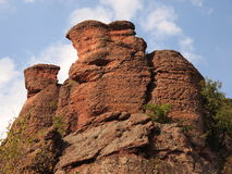 Die Belogradchik-Felsen u. das x28; Bulgaria& x29; Stockfotografie