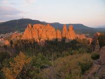 Die Belogradchik-Felsen u. das x28; Bulgaria& x29; Stockfotos