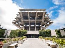 Die berühmte Geisel-Bibliothek von Universtiy von Kalifornien San Diego Lizenzfreies Stockfoto