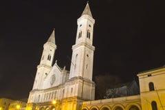 Die berühmte Ludwigskirche Kirche in München, Bayern Lizenzfreies Stockbild