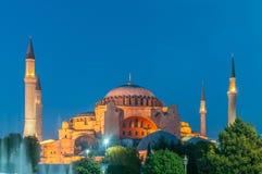 Die berühmte Moschee in der türkischen Stadt von Istanbul Lizenzfreies Stockfoto