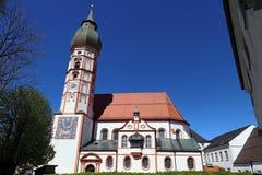 Die berühmte Pilgerfahrtkirche von Andechs-Kloster im Bayern Stockfotografie