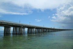 Die berühmte sieben Meilen-Brücke in den Florida-Schlüsseln Lizenzfreies Stockfoto