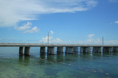 Die berühmte sieben Meilen-Brücke in den Florida-Schlüsseln Stockbilder