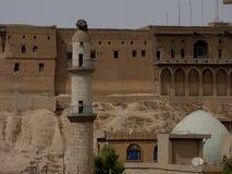 Die berühmte Zitadelle von Erbil, Kurdistan stockfotografie