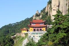 Die berühmten Berge des chinesischen Buddhismus jiuhuashan Lizenzfreie Stockbilder