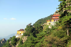Die berühmten Berge des chinesischen Buddhismus jiuhuashan Stockfotos
