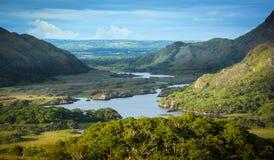 Die berühmten ` Damen sehen `, Ring von Kerry, eins der besten Panoramas in Irland an stockfotografie