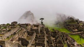 Die berühmten Inkaruinen von machu picchu in Peru Stockfotos