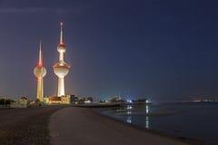 Die berühmten Kuwait-Türme Stockfotos