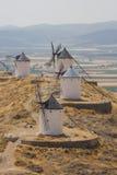 Die berühmten spanischen Windmühlen Stockfotos