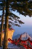 Die berühmten Touristenattraktionen auf Shaanxi-Provinz Chinesisch, Huashan-Berg Lizenzfreie Stockfotos
