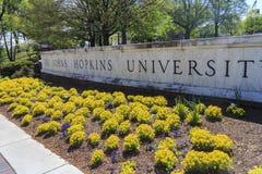 Die berühmten Universität John Hopkins stockfotografie