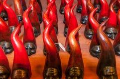 Die berühmtesten Glücksbringer u. das x28; und powerful& x29; in der Welt das kleine rote Horn lizenzfreies stockfoto