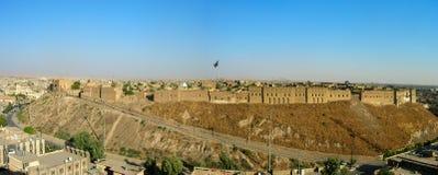 Die ber?hmte Zitadelle von Erbil, Kurdistan Am Ort Mitte lizenzfreie stockfotos