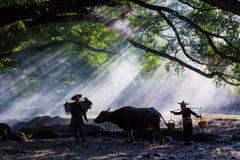 Die Bergdörfer lizenzfreies stockfoto
